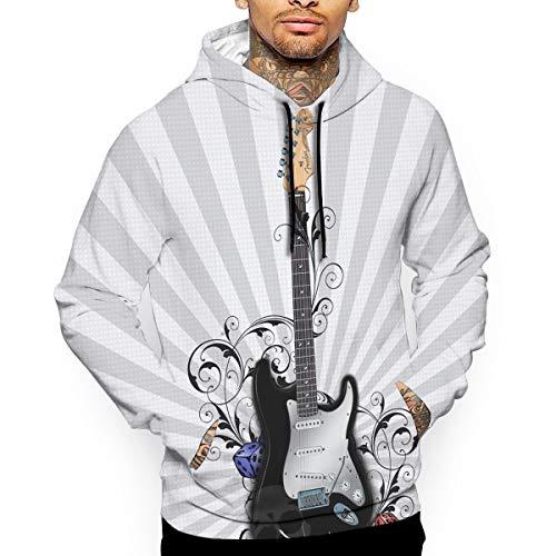 (Pullover Hoodie Guitar Fender Fleece Hoodies Kangaroo Pocket Sweatshirt Hooded for Men)
