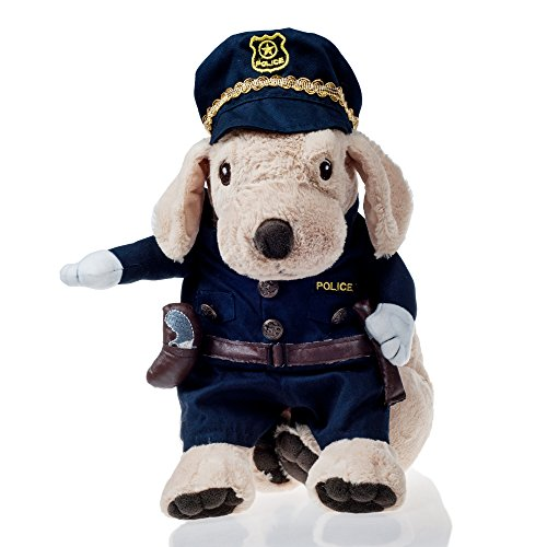 He&Ha Pet Quality Policeman Pet Costumes for Cats and Small Dogs, Perfect for Halloween and Theme Party (Funny Halloween Pet Costumes)