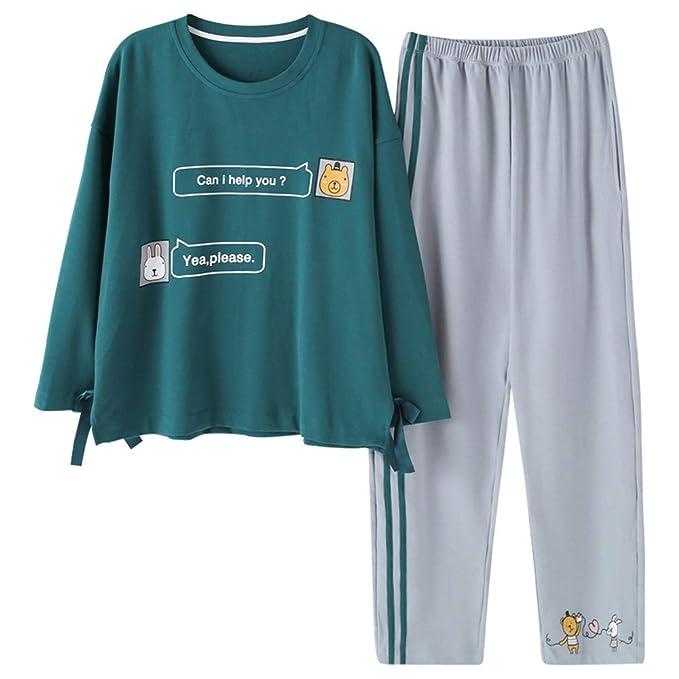 Mmllse Conjuntos De Pijama Pijamas Dibujos Animados Pajarita Vestirse Dormir Ropa De Dormir A Rayas Homewear