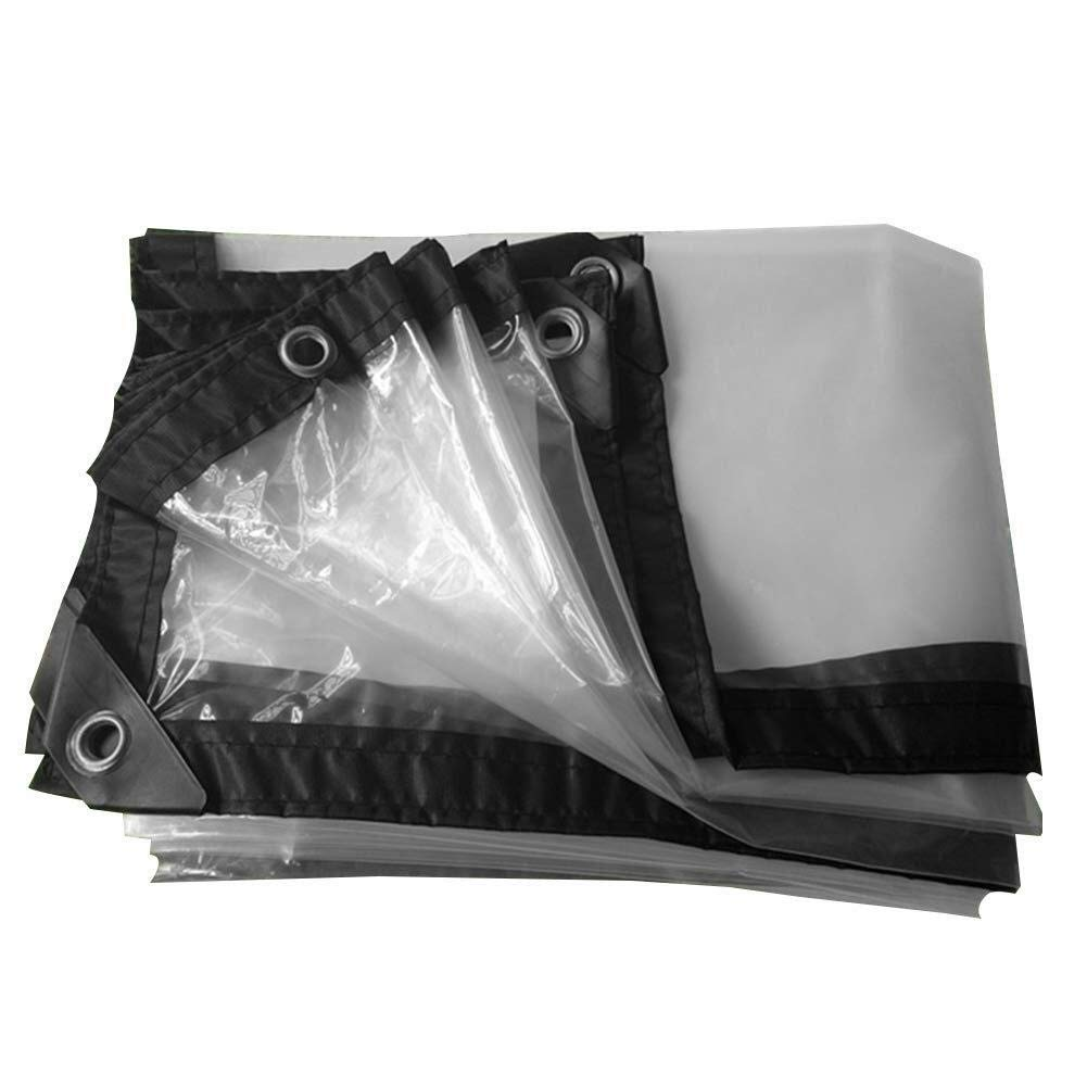 Clear 2x2M Wangcfsb BÂche de Prougeection Transparente, Film de bÂche de Verre, avec auvent extérieur Extra-épais à Bord rembourré et renforcé (Couleur   Clear, Taille   2x5m)