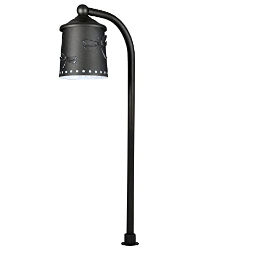 Hampton Bay Low Voltage Black Outdoor Integrated LED Path Light