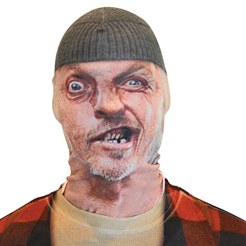 [Toothless Man Sublimated Realistic Ugly Faced Poly/Spandex Halloween Mask] (Mens Lumberjack Costumes)