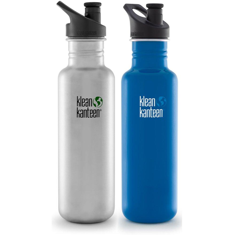 Klean Kanteen Classic 800ml Water Bottle Gym Sport Yoga Loop Cap Post Box Red