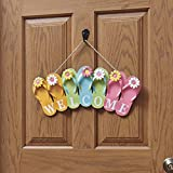The Lakeside Collection Wooden Flip Flop Welcome