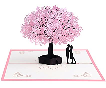 Amazon Pop Up Cherry Blossoms Greeting Card Floral Flower