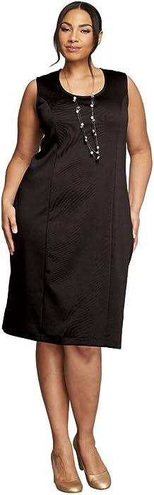 0f36523eeb2f9 Jessica London Women s Plus Size Ponte Jacket Dress - Black