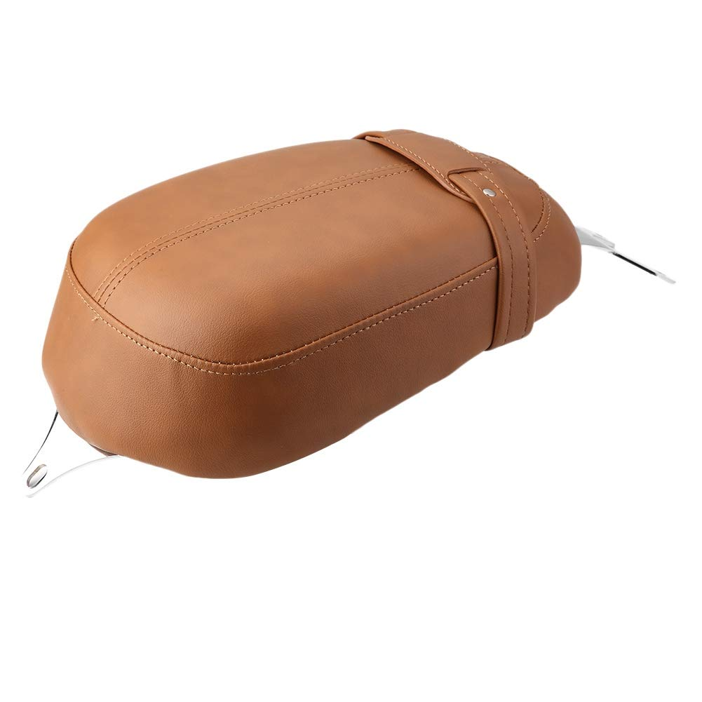 Hlyjoon Sella Moto Modifica Moto Cuscino in Pelle Comodo Sedile Posteriore Accessori Sella Piatta Cuscino Sella Mat per Indian Scout Sessanta 2015 2016 2017 Nero
