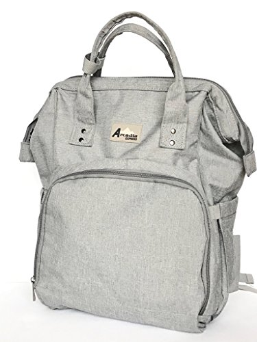Backpack Diaper Bag For Boys & Girls by Arcadia Express: Stylish Designer Diaper Bag With Large Capacity | Durable Baby Changing Bag For Dads & Moms | Waterproof Nappy Bag -