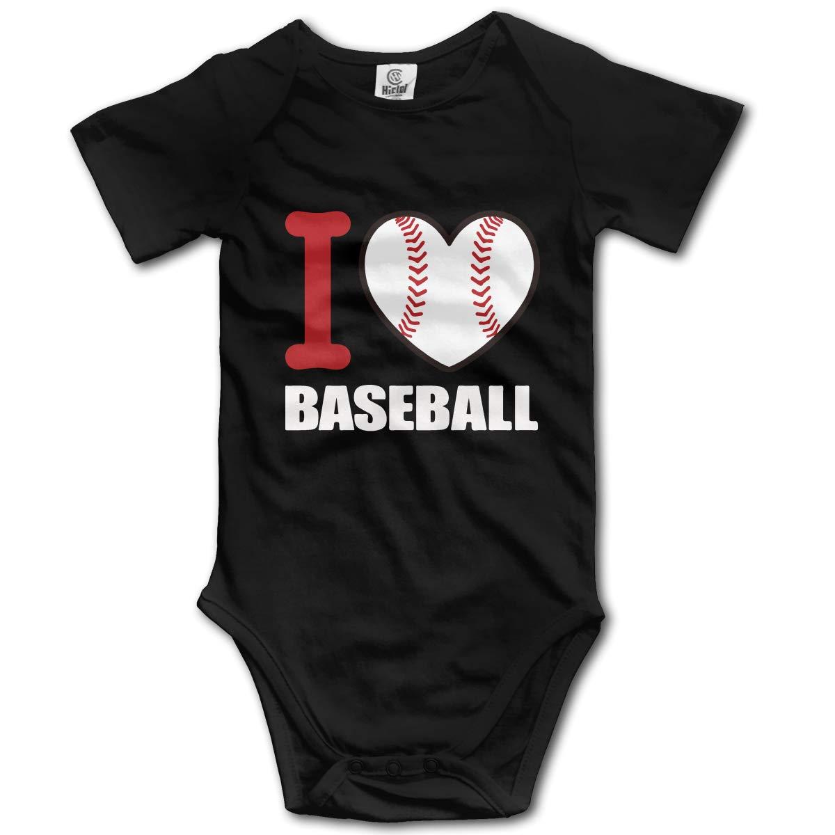 XHX Newborn Infant I Love Baseball Short Sleeve Romper Onesie Bodysuit Jumpsuit