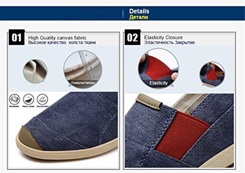 in Mocassini Casual Jeans denim barche tela Leggero da per Spring traspirante Fashion uomo da Slip Scarpe e On guida Brown Ix6CZqw6S