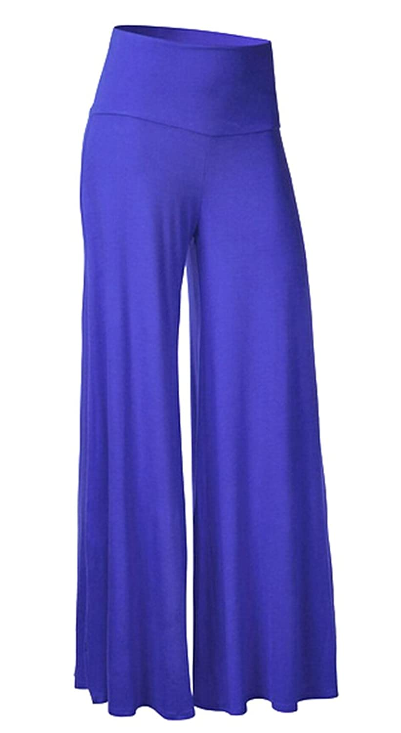 XTX Womens Casual Vouge Long Solid Wide Leg Palazzo Pants