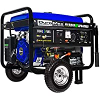 DuroMax XP4400EH 4400 Watt Dual Fuel Propane / Gas Hybrid Portable Generator (Blue)