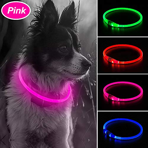 Illumifun Rechargeable Glowing Collars Visible