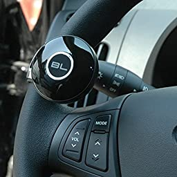 Power Handle Car or Boat Steering Wheel Suicide Spinner Knob for Beginner and Ladies, Black