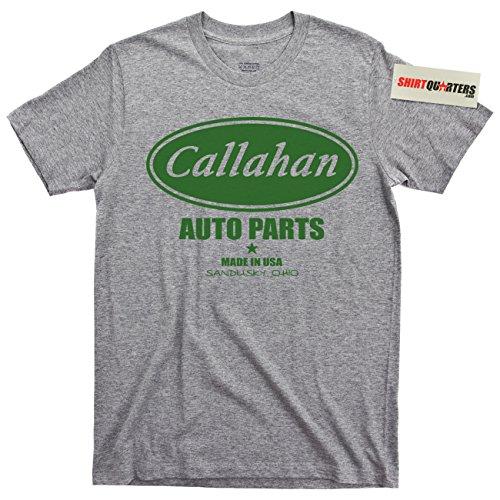 Callahan Auto Parts Tommy Boy Sandusky Ohio Tee T Shirt (Sandusky Sports Gray, X-Large) (Matt Foley Van Down By The River)