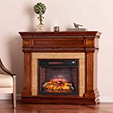 Southern Enterprises Faircrest Infrared Electric Fireplace in Oak Review