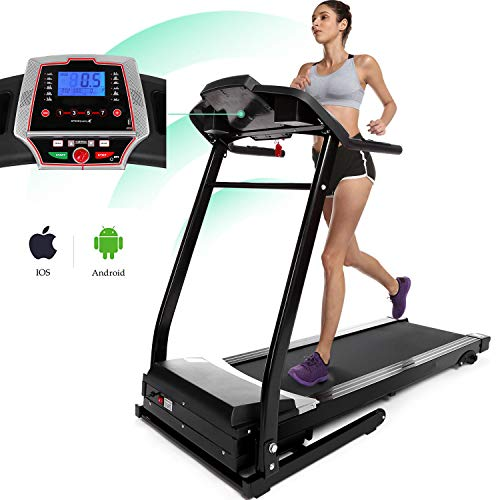 Miageek Fitness Folding Electric Jogging Treadmills with Smartphone APP Control, Walking Running Exercise Machine Incline Trainer Equipment Easy Assembly (2.25 HP - APP Control - Black) by Miageek (Image #7)