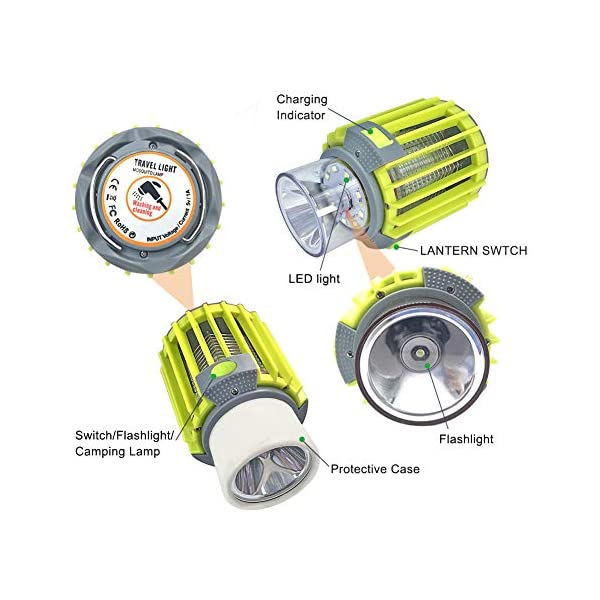 Anordsem 3 in 1 Lanterna da Campeggio Lampada Antizanzara Torcia Impermeabile IP67 con USB ed Energia Solare… 5 spesavip