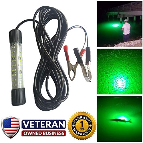 IllumiSea Aquatic Lights 12v Green Underwater LED Fishing Light (Green)