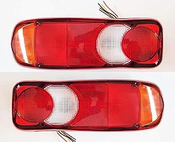 2 luces traseras para camión, remolque, remolque, chasis de 12 V y 24 V