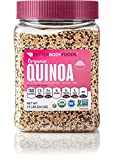 BetterBody Foods Organic Quinoa — Medley of White, Red, and Black Quinoa Grains, Contains All 9 Essential Amino Acids, Complete Plant Protein with 6g of Protein per Serving, 1.5 Pounds