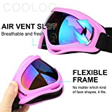 COOLOO Ski Goggles, Pack of 2, Skate Glasses for