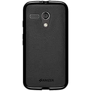 Amzer Pudding Soft Gel TPU Skin Fit Case Cover for Motorola Moto G XT1032 - Retail Packaging - Black