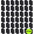 "Wire Shelf Clips 80-Packs,Wire Shelving Shelf Lock Clips for 1"" Diameter Post Shelving Sleeves,Fits with Thunder Group, Alera, Honey Can Do, Eagle, Regency, Metro & More(Plastic, Black)"