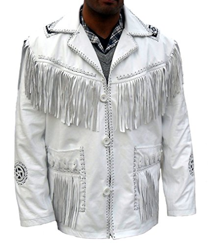 coolhides Men's Cowboy Leather Jacket, F - Beaded Suede Jacket Shopping Results