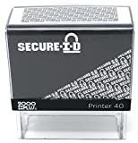 SECURE ID, Identity Theft Security Stamp - Block Out Your Confidential Information, Standard Size 7/8'' x 2-3/8'', Black Case