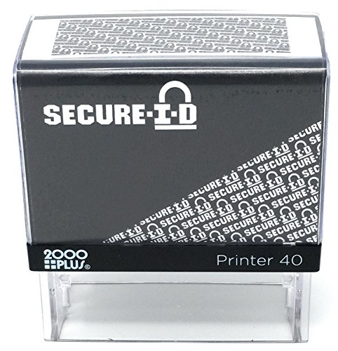 Imprint Block - SECURE ID, Identity Theft Security Stamp - Block Out Your Confidential Information, Standard Size 7/8