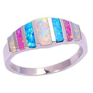 FT-Ring Pink Blue White Fire Opal Jewelry Wedding Ring For Women Engagement Wedding Bridal Rings (12)