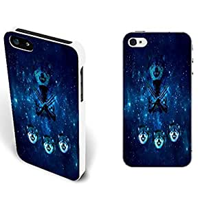 Blue Galaxy Universe Space Pattern & Wolf Hybrid Hard Back Plastic for Case For Sam Sung Note 3 Cover Cell Phone (nebula whites1140)
