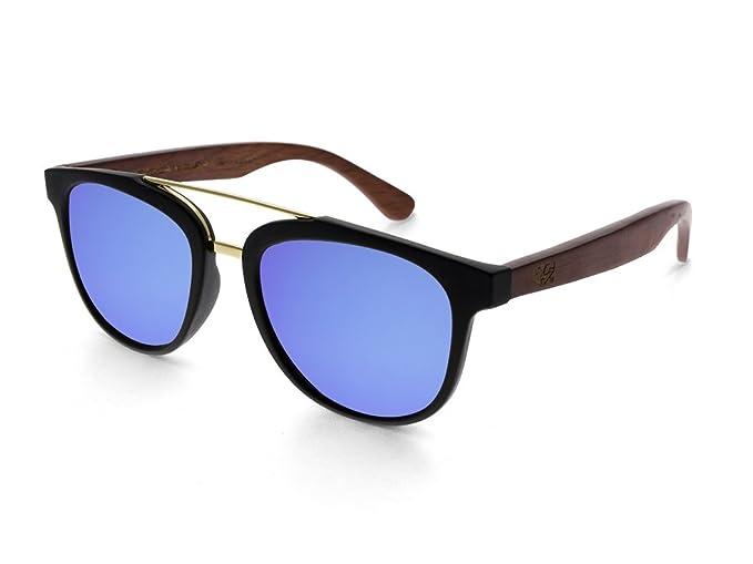 Gafas de sol de madera MOSCA NEGRA ® modelo MIX DOUBLE Blue ...