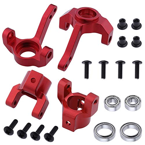 Hobbypark Aluminum Steering Knuckle & C Hub Carrier w/Ball Bearings Replacement of AX30495 AX30496 for RC AXIAL SCX10 Option - Aluminum Steering Machined Knuckles