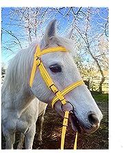Equestrian Horse Bridle Halter, PU Adjustable Horse Head Collar Horse Riding Racing Equipment Training Rope