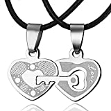 iDMSON Love Heart Splicing Lettering Lovers Necklace Couples Review and Comparison