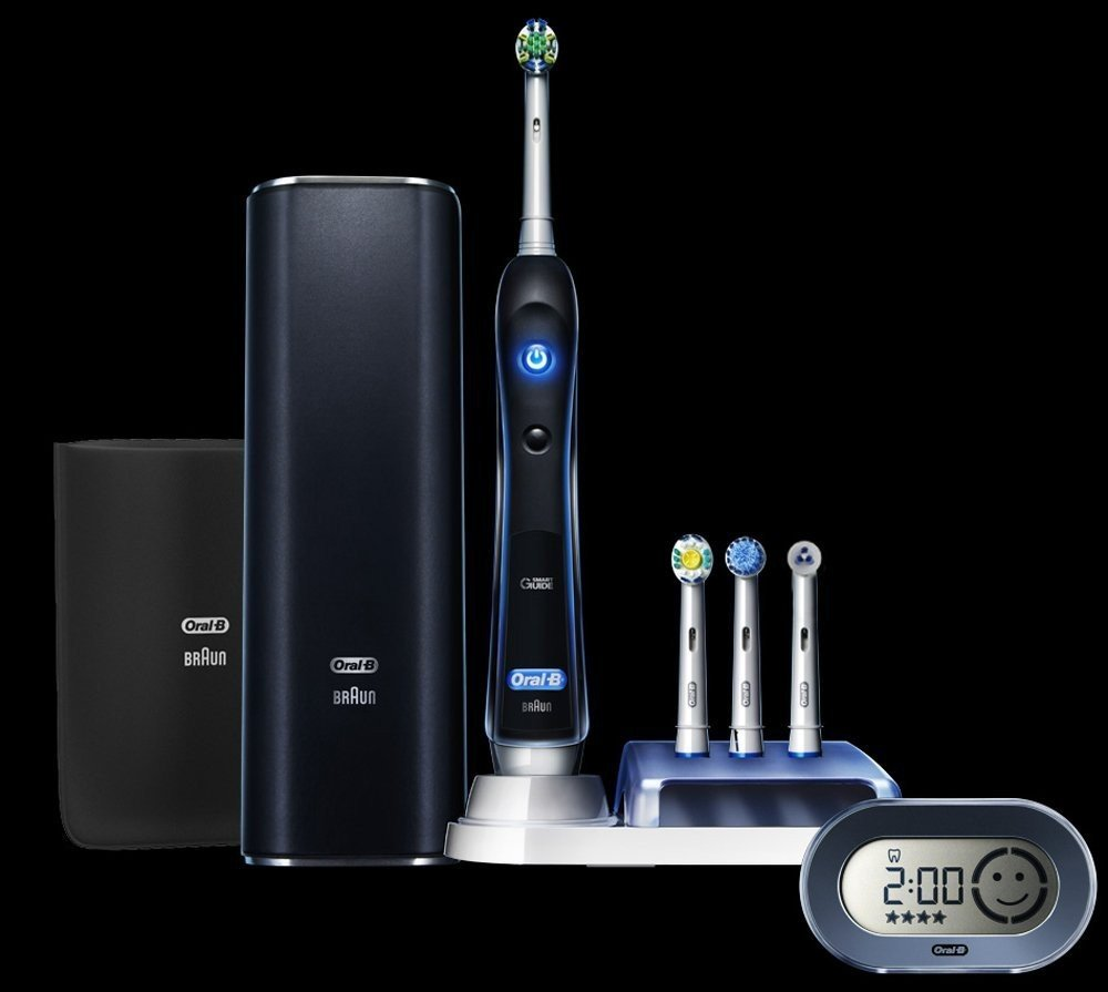 OralBrush BLUETOOTH PC 7000 Dental Professional Model BLACK Electric Toothbrush: Includes 4 Brush Heads!