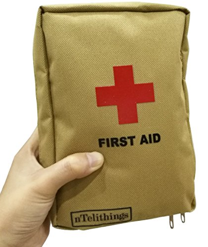 FIRST AID KIT FULLY STOCKED SMALL MEDICAL EMT DISASTER EMERGENCY IFAK MED KITS PORTABLE FOR HOME SHELTER TRAVEL BACKPACK CAMPING HIKING VEHICLES GREAT FOR SPORTS EDC BUGOUT GO 72 hour BAGS