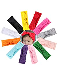 Jstyle 12Pcs Baby Headbands Knotted Turban for Newborn Infant Toddler Boys Girls Hair Wraps Accessories