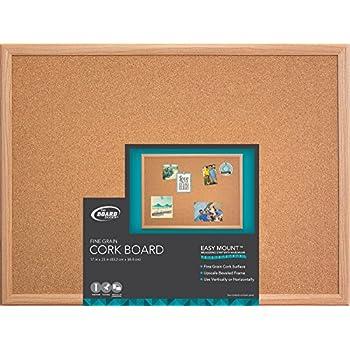 board dudes 17 x 23 wood style framed cork board cxm87