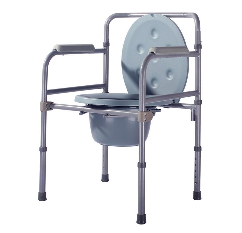 amazon com simple seat toilet chair elderly people pregnant womenamazon com simple seat toilet chair elderly people pregnant women disabled toilet toilet seat chair steel chair 90x53x49cm sports \u0026 outdoors