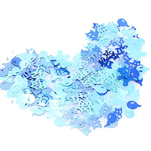 (TOPmountain Wedding Paper Scrap Confetti 1 Pack Party Table Sprinkles Wedding Supply for Party Decor Blue)