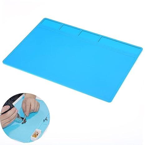 TAOtTAO soldar Reparación Mantenimiento Plataforma de Aislamiento Térmico Pad Silicona Mat