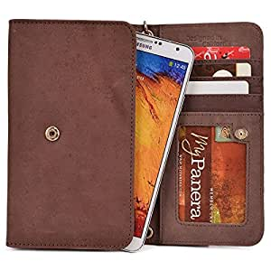 Kroo Handbag Clutch Wallet Case with Matching Wrist Strap for Samsung Galaxy Grand I9080, I9082 - Many Colors Available