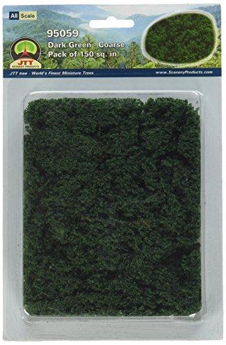 (JTT Landscaping Material - Foliage Fiber Clusters, Dark Green,)