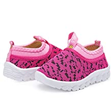 RVROVIC Kids Girls Boys Shoes Mesh Breathable Slip-on Sneaker for Tennis Running Walking