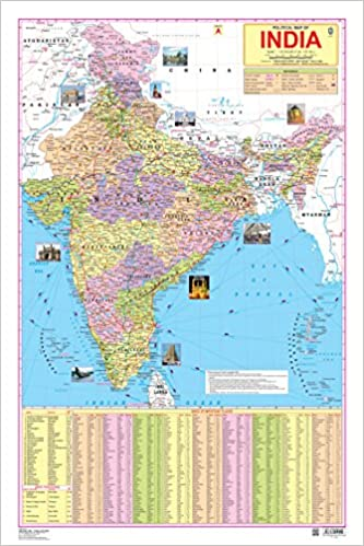 Buy india map book online at low prices in india india map reviews buy india map book online at low prices in india india map reviews ratings amazon gumiabroncs Images