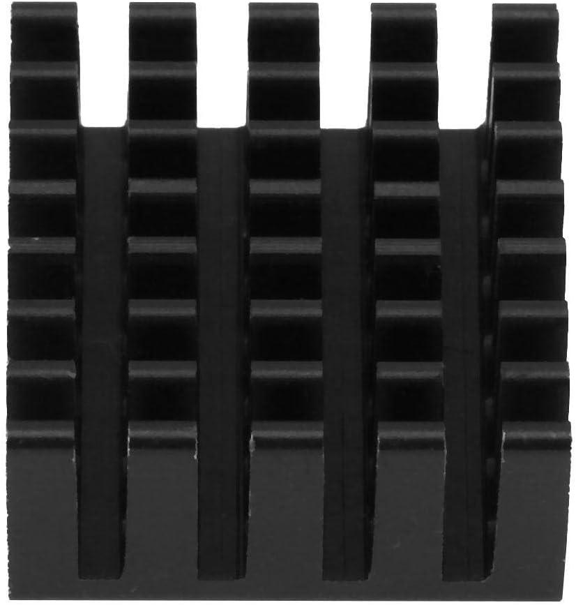 Woyisisi 10Pcs P201020-B Black Pure Aluminum Cooling Fin Heatsink Chip Heat Sink Cooler