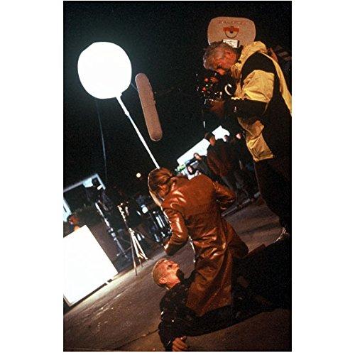 Sarah Michelle Gellar Filming Action Scene on Buffy 8 x 10 Inch Photo